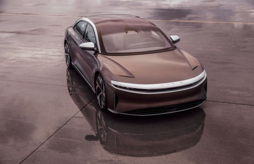 Lucid Air – production electric sedan debuts with up to 1,080 hp, 0-60 mph in 2.5 secs, 832 km of range Image #1174503