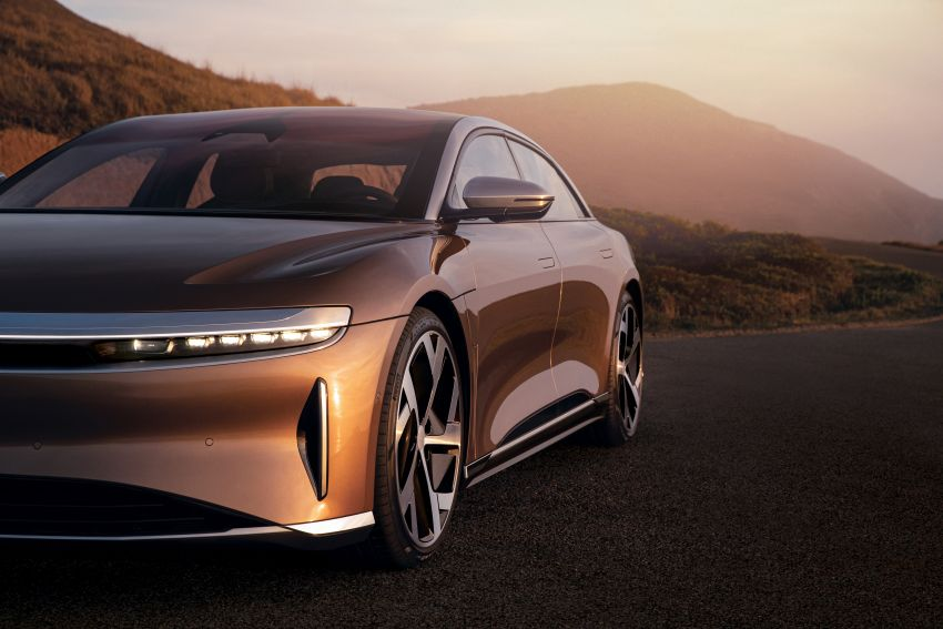Lucid Air – production electric sedan debuts with up to 1,080 hp, 0-60 mph in 2.5 secs, 832 km of range Image #1174505