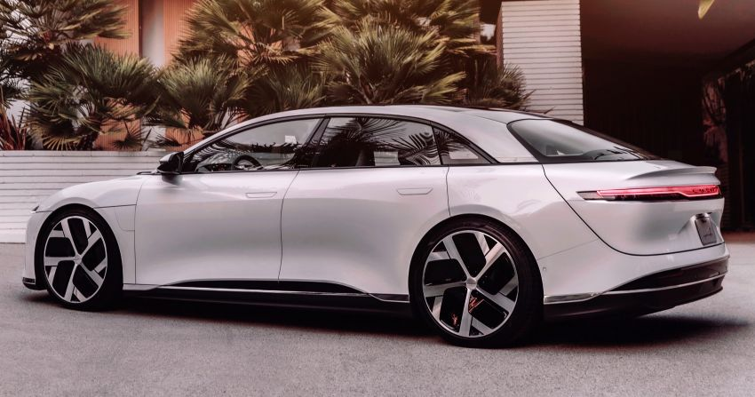 Lucid Air – production electric sedan debuts with up to 1,080 hp, 0-60 mph in 2.5 secs, 832 km of range Image #1174506