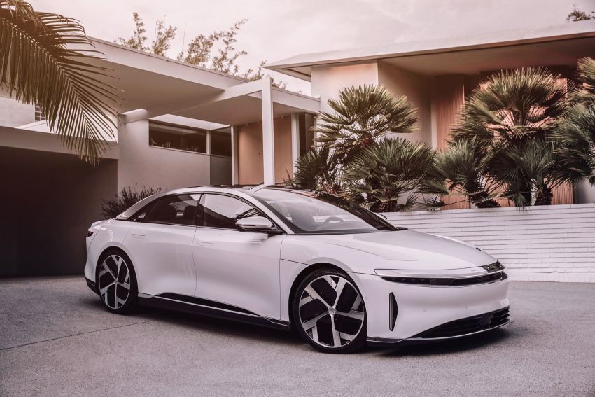Lucid Air – production electric sedan debuts with up to 1,080 hp, 0-60 mph in 2.5 secs, 832 km of range Image #1174507