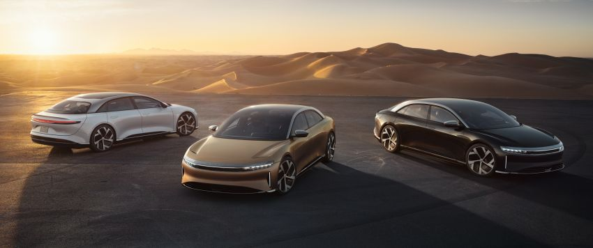 Lucid Air – production electric sedan debuts with up to 1,080 hp, 0-60 mph in 2.5 secs, 832 km of range Image #1174508