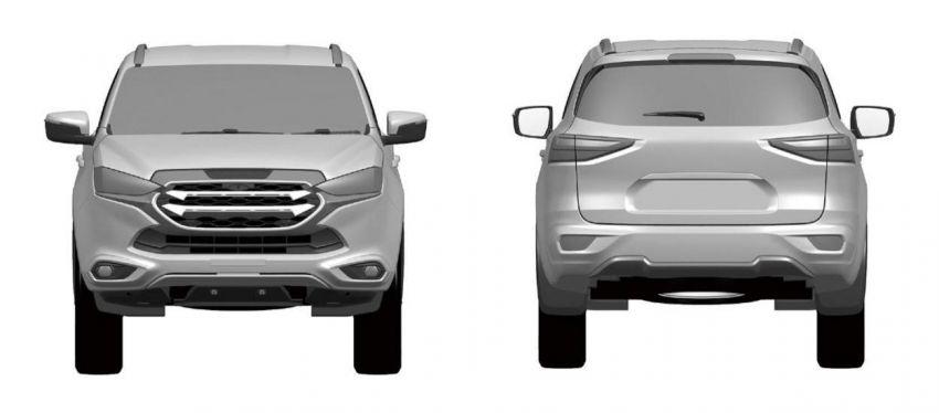 Next-gen Isuzu MU-X revealed in Japan patent images Image #1184923