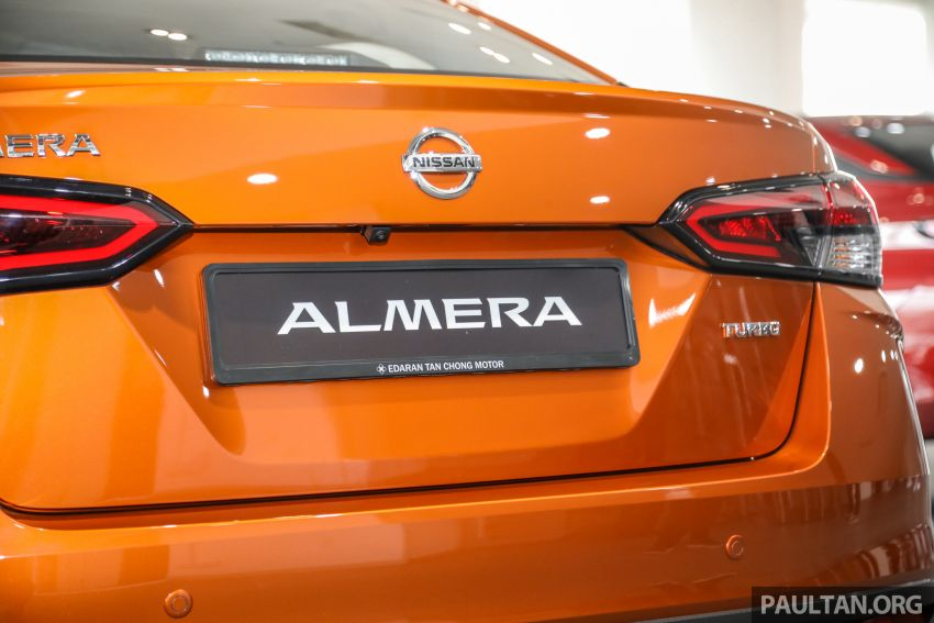 Nissan Almera 2020 di M'sia — perincian lengkap spesifikasi tiga varian, 1.0 liter turbo/CVT, dari RM8Xk Image #1171508