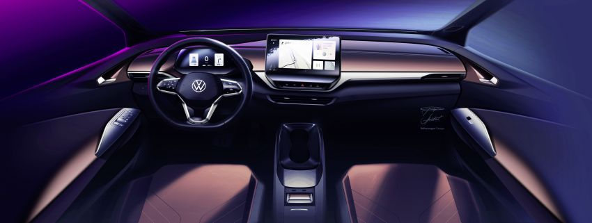 Volkswagen reveals ID.4 interior, EV debut this month Image #1172202