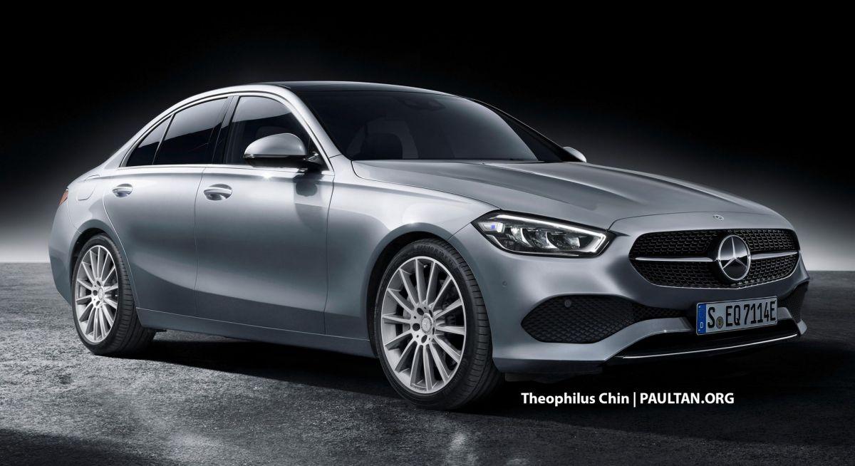 W206 Mercedes-Benz C-Class rendered - S-Class-lite styling ...