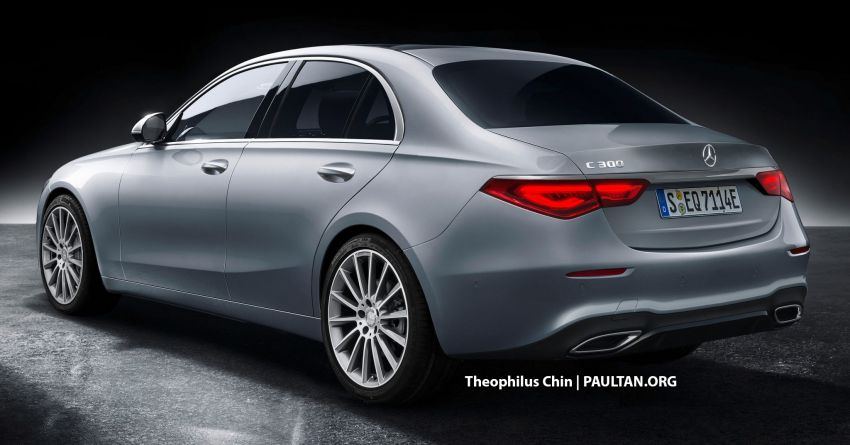W206 Mercedes-Benz C-Class rendered – S-Class-lite styling, new technologies and engines, coming 2021 Image #1176167
