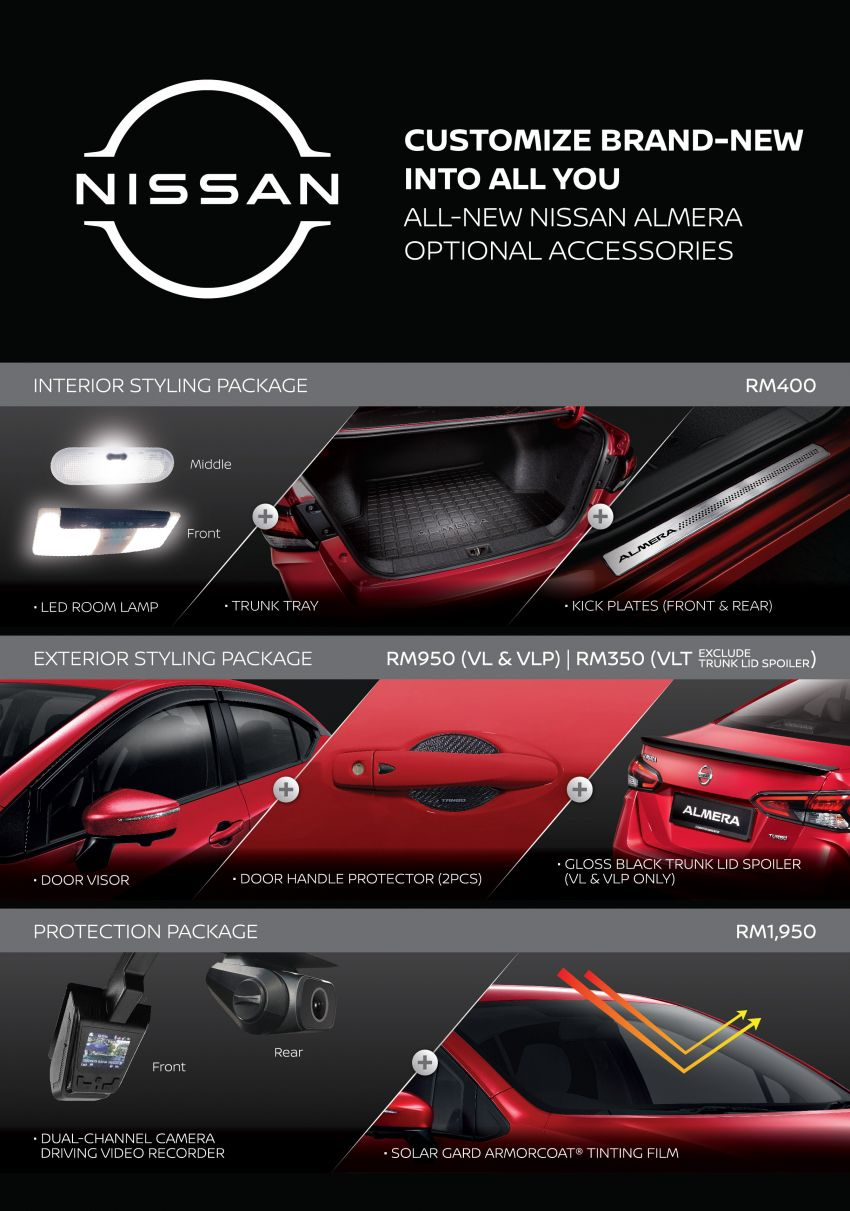 2020 Nissan Almera gets list of optional accessories Image #1193953