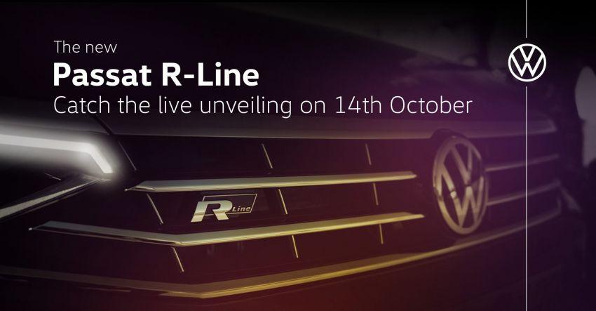 Volkswagen Passat R-Line – online launch October 14 Image #1191549