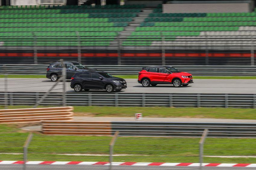 DRAG RACE: Proton X50 vs Honda HR-V vs BMW X1 Image #1186228
