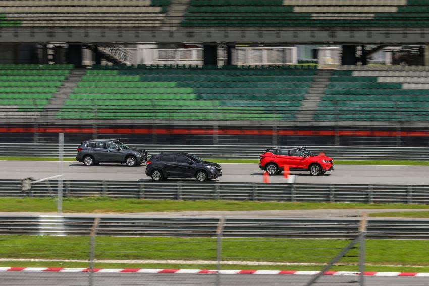 DRAG RACE: Proton X50 vs Honda HR-V vs BMW X1 Image #1186227