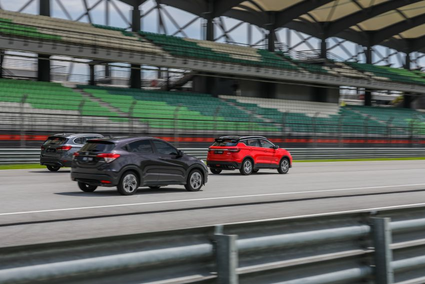 DRAG RACE: Proton X50 vs Honda HR-V vs BMW X1 Image #1186221
