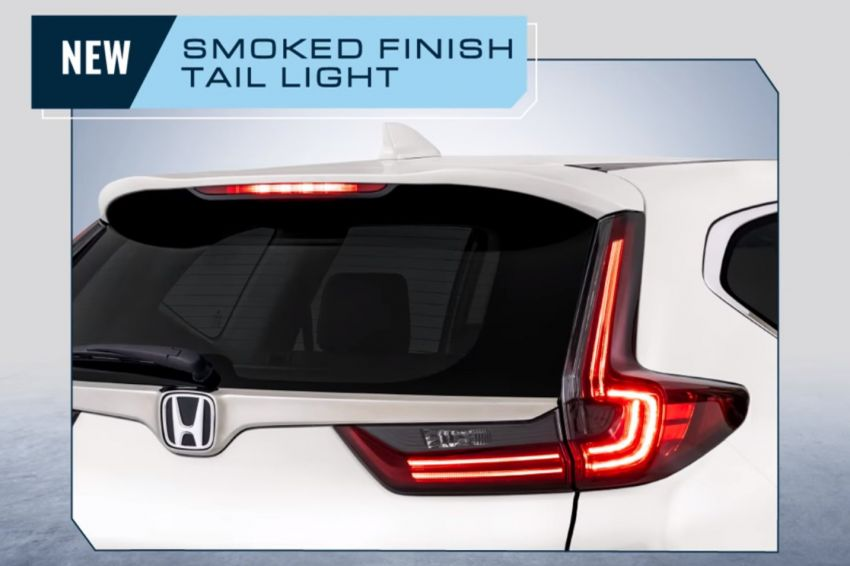 2020 Honda CR-V facelift – smoked tail lights and new exhaust tips shown; bookings open, launching soon Image #1195008