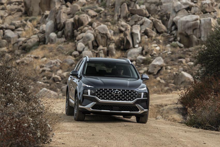2021 Hyundai Santa Fe facelift debuts in US – 191 hp 2.5L GDI and 277 hp T-GDI, 225 hp 1.6L turbo hybrid Image #1191818