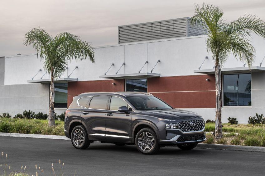 2021 Hyundai Santa Fe facelift debuts in US – 191 hp 2.5L GDI and 277 hp T-GDI, 225 hp 1.6L turbo hybrid Image #1191915