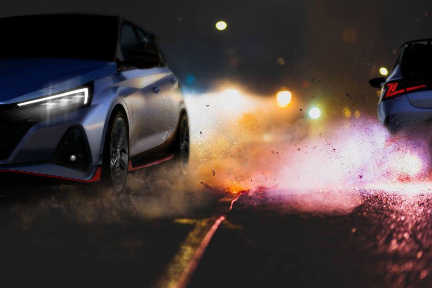 Hyundai i20 N – <em>teaser</em> disiar, sah 1.6L Turbo berkuasa 204 PS dan tork 275 Nm, kotak gear manual 6-kelajuan Image #1189222