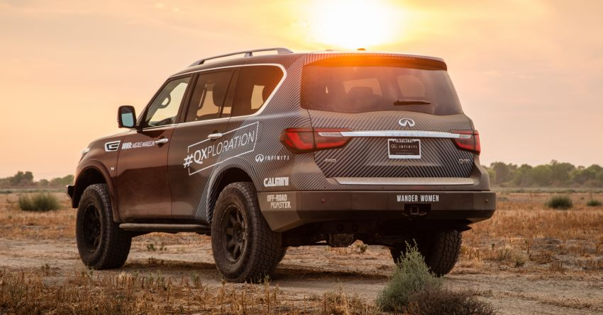 Infiniti enters 2020 Rebelle Rally with modified QX80 Image #1190798