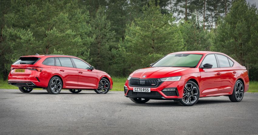 2021 Skoda Octavia vRS – 245 PS performance hatch and wagon launched in the UK; priced from RM166k Image #1189849