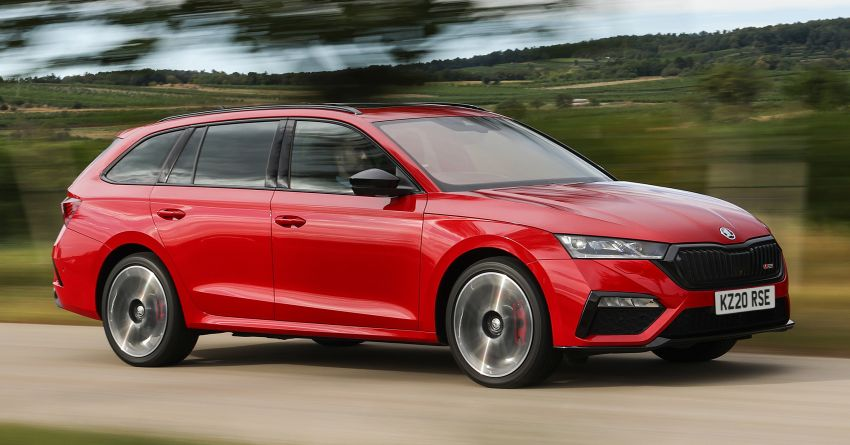 2021 Skoda Octavia vRS – 245 PS performance hatch and wagon launched in the UK; priced from RM166k Image #1189855