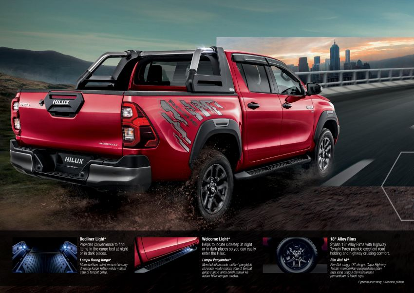 2021 Toyota Hilux facelift launched in M'sia – power bump for 2.8L Rogue, 10k service interval, from RM93k Image #1189583