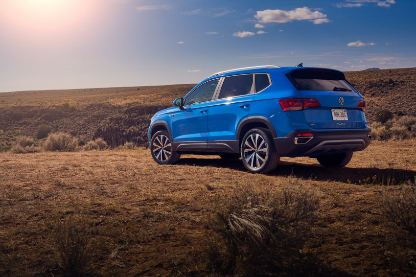 2022 Volkswagen Taos SUV makes its debut in the US – slots in below the Tiguan; 1.5L with 158 hp, 249 Nm Image #1192729