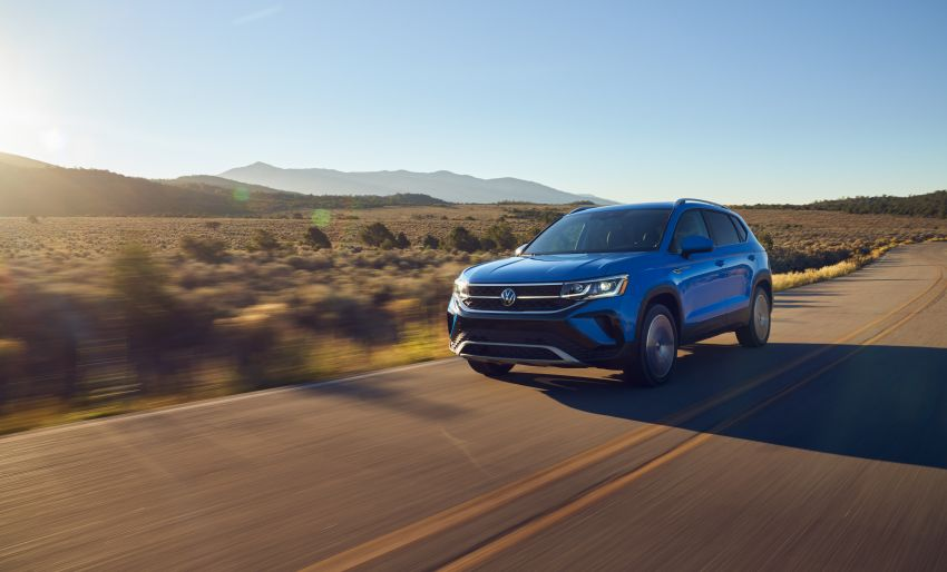 2022 Volkswagen Taos SUV makes its debut in the US – slots in below the Tiguan; 1.5L with 158 hp, 249 Nm Image #1192743