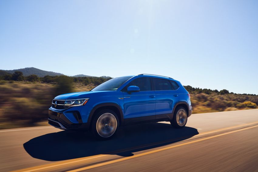 2022 Volkswagen Taos SUV makes its debut in the US – slots in below the Tiguan; 1.5L with 158 hp, 249 Nm Image #1192745