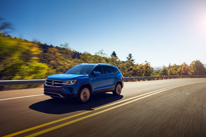 2022 Volkswagen Taos SUV makes its debut in the US – slots in below the Tiguan; 1.5L with 158 hp, 249 Nm Image #1192746