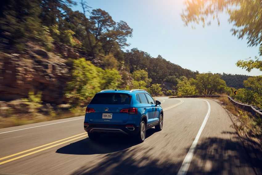 2022 Volkswagen Taos SUV makes its debut in the US – slots in below the Tiguan; 1.5L with 158 hp, 249 Nm Image #1192749