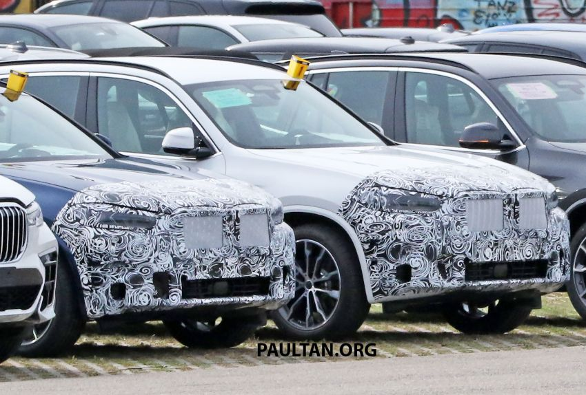 SPIED: G01 BMW X3 M40i facelift seen, with X4 mule Image #1189338