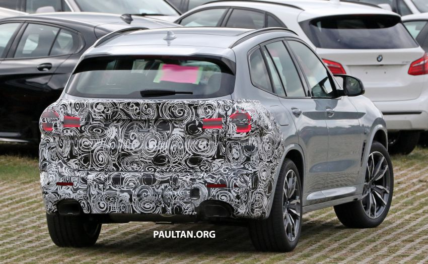 SPIED: G01 BMW X3 M40i facelift seen, with X4 mule Image #1189323