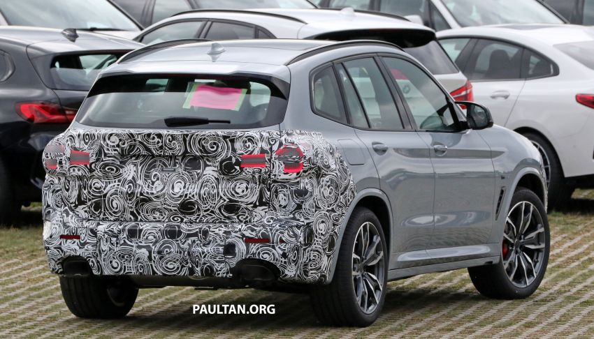 SPIED: G01 BMW X3 M40i facelift seen, with X4 mule Image #1189324