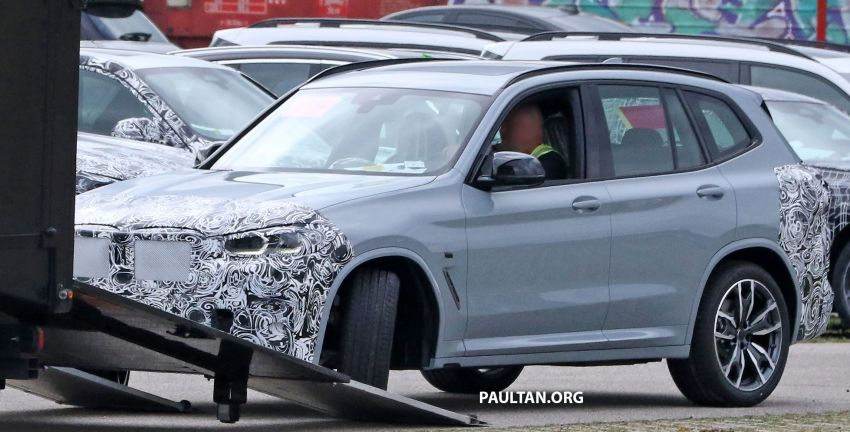 SPIED: G01 BMW X3 M40i facelift seen, with X4 mule Image #1189316