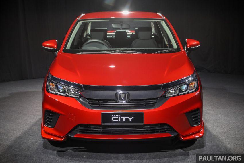 Honda City 2020 generasi kelima dilancarkan — empat varian, RS e:HEV, Honda Sensing; harga dari RM74k Image #1191939
