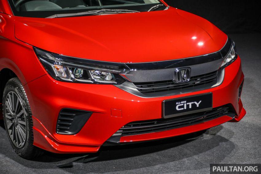 Honda City 2020 generasi kelima dilancarkan — empat varian, RS e:HEV, Honda Sensing; harga dari RM74k Image #1191946