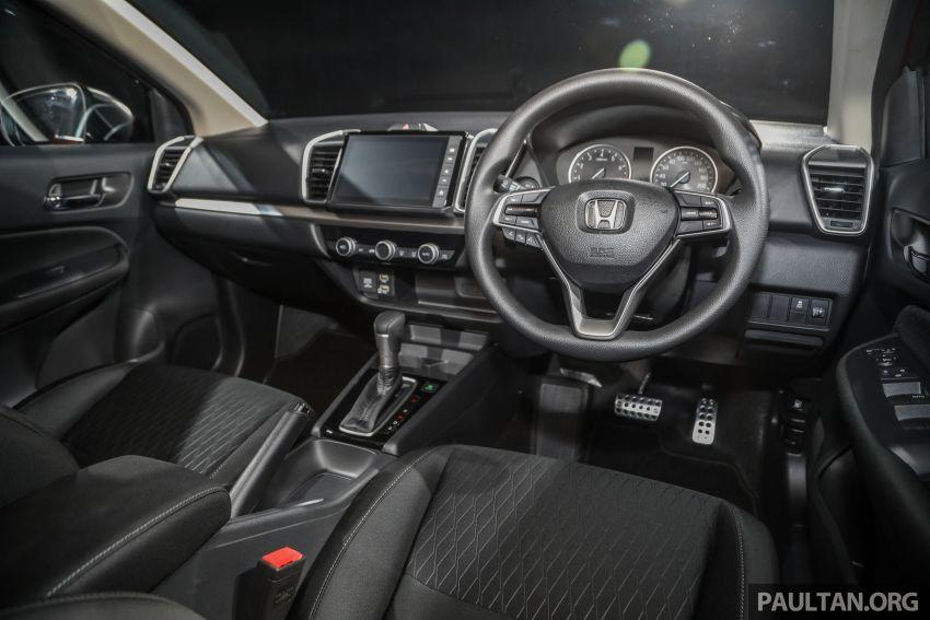 Honda City 2020 generasi kelima dilancarkan — empat varian, RS e:HEV, Honda Sensing; harga dari RM74k Image #1192023