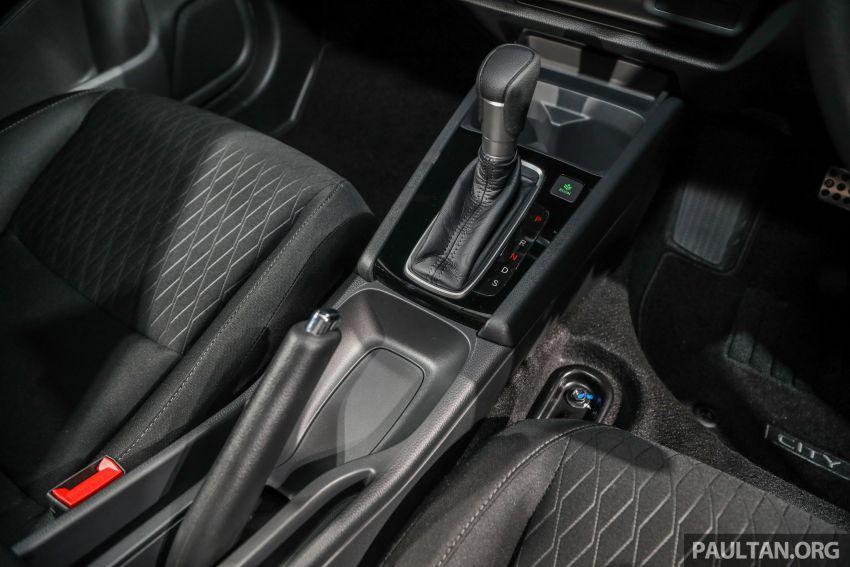 Honda City 2020 generasi kelima dilancarkan — empat varian, RS e:HEV, Honda Sensing; harga dari RM74k Image #1192018
