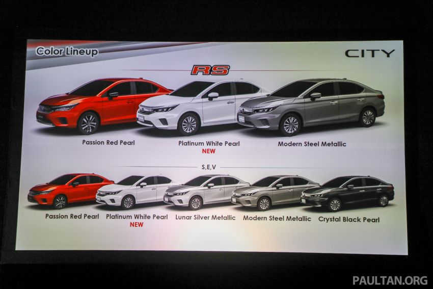 2020 Honda City – 5th-gen launched in Malaysia; 1.5L S, E and V; RS e:HEV Hybrid world debut, from RM74k Image #1192336