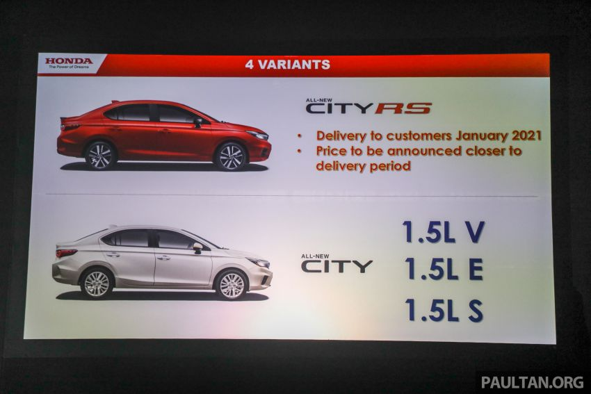 2020 Honda City – 5th-gen launched in Malaysia; 1.5L S, E and V; RS e:HEV Hybrid world debut, from RM74k Image #1192343