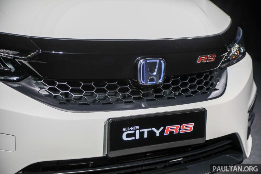 Honda City 2020 generasi kelima dilancarkan — empat varian, RS e:HEV, Honda Sensing; harga dari RM74k Image #1192071