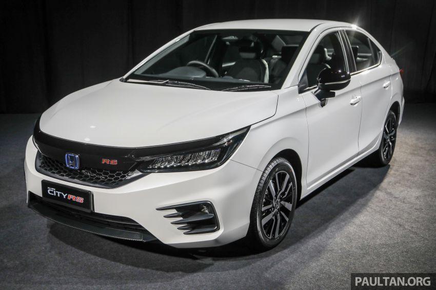 Honda City 2020 generasi kelima dilancarkan — empat varian, RS e:HEV, Honda Sensing; harga dari RM74k Image #1192058