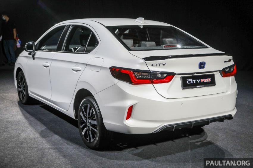Honda City 2020 generasi kelima dilancarkan — empat varian, RS e:HEV, Honda Sensing; harga dari RM74k Image #1192059