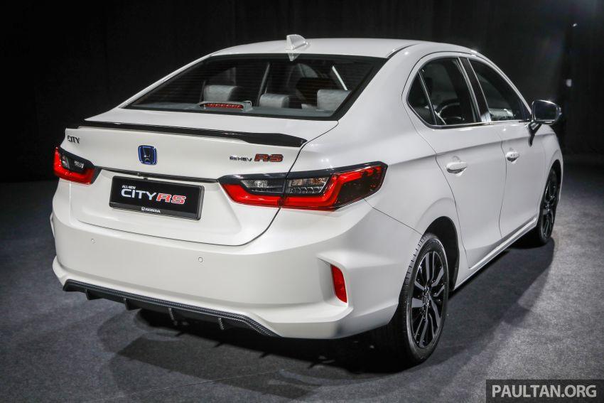 Honda City 2020 generasi kelima dilancarkan — empat varian, RS e:HEV, Honda Sensing; harga dari RM74k Image #1192061