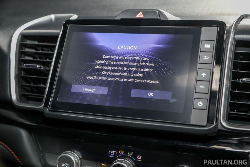 Honda City 2020 generasi kelima dilancarkan — empat varian, RS e:HEV, Honda Sensing; harga dari RM74k Image #1192118