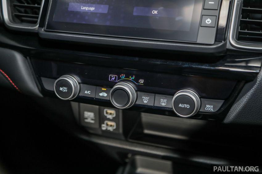 Honda City 2020 generasi kelima dilancarkan — empat varian, RS e:HEV, Honda Sensing; harga dari RM74k Image #1192120