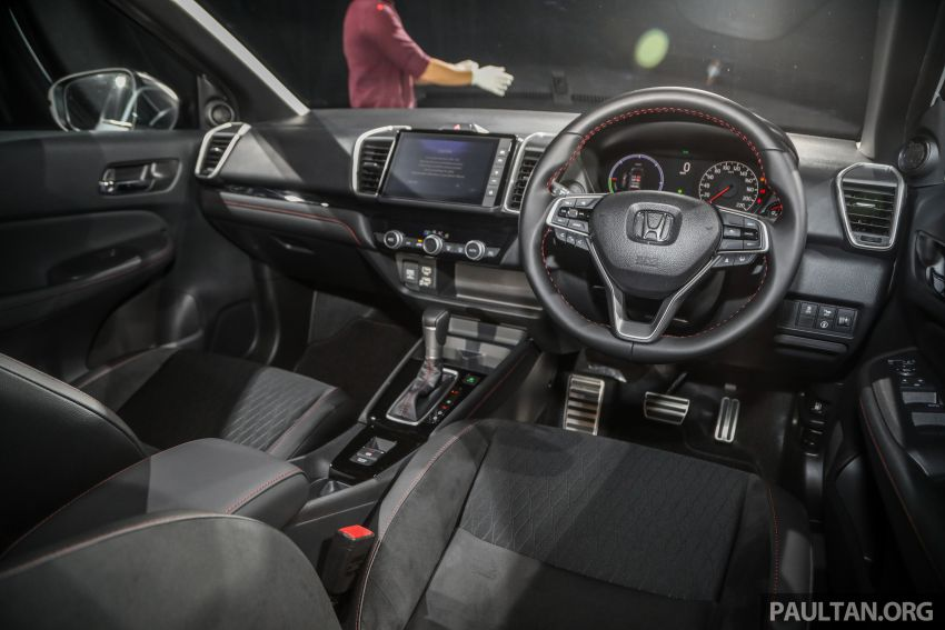 Honda City 2020 generasi kelima dilancarkan — empat varian, RS e:HEV, Honda Sensing; harga dari RM74k Image #1192134