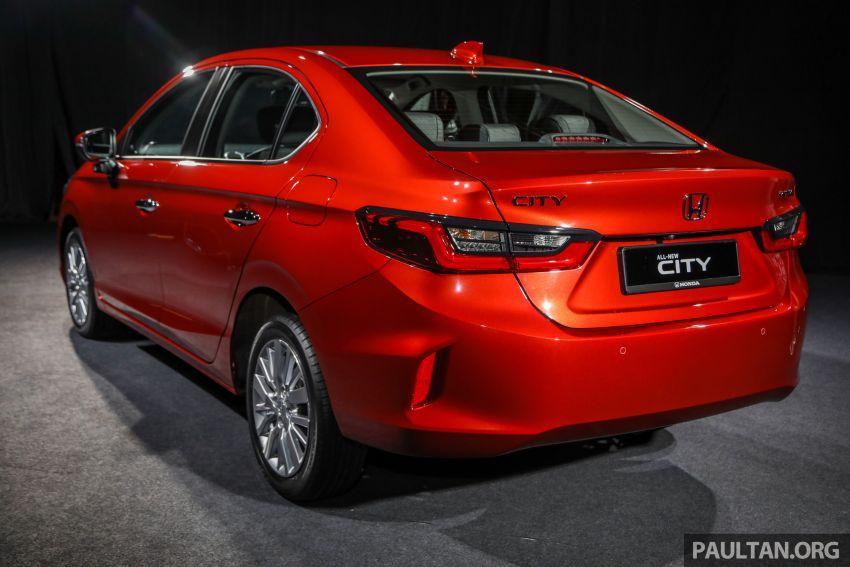 Honda City 2020 generasi kelima dilancarkan — empat varian, RS e:HEV, Honda Sensing; harga dari RM74k Image #1191791