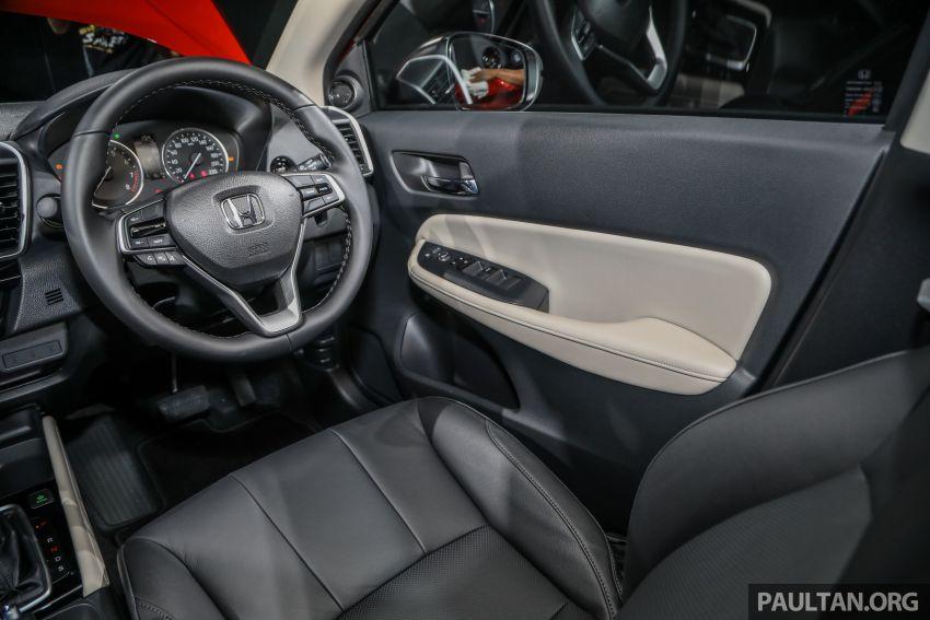 Honda City 2020 generasi kelima dilancarkan — empat varian, RS e:HEV, Honda Sensing; harga dari RM74k Image #1191868