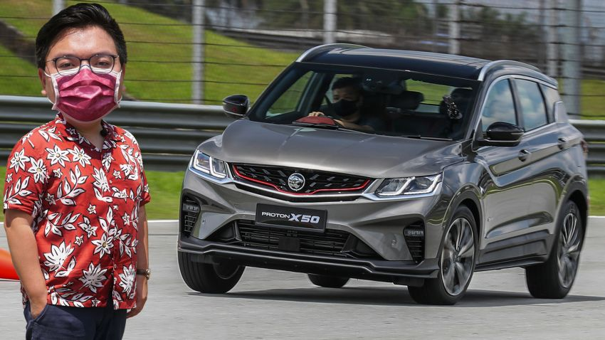VIDEO: Proton X50 – how does it handle a slalom with suspension softened for Malaysian road conditions? Image #1186250
