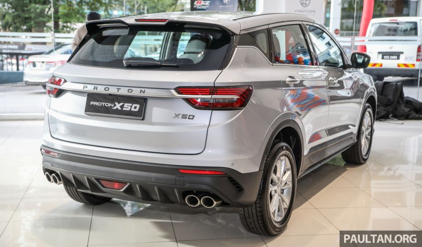 Proton X50 SUV launched – RM79,200 to RM103,300 Image #1199703