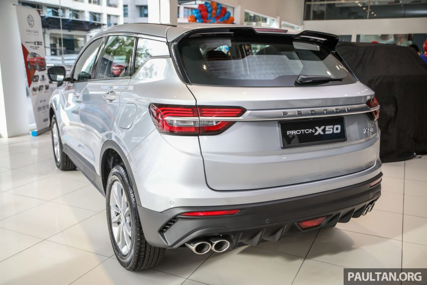 Proton X50 SUV launched – RM79,200 to RM103,300 Image #1199704